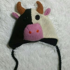 Vintage Moolicious Knitted Cow Hat-Size 9 Mos